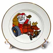 Nelson Deweys Reindeer Powered Santa Dragster Sleigh Plate