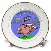 Ira Monroes Grateful Holiday Turkey Plate