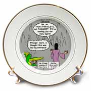 John 16 12 - 15 Jesus discusses sending paraclete which confuses a parakeet Plate
