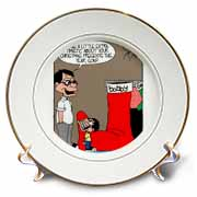 Sean Boley - Clever Child with very Large Christmas Stocking Plate