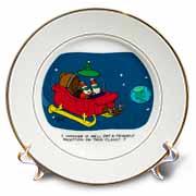 Nelson Dewey - Alien Craft Resembles Santas Sleigh Plate