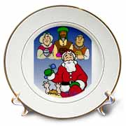 Larry Miller - Tribute to the Baby Jesus by the 3 Wisemen and Santa Plate