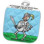 Knight In Shining Armour Meats Potholder