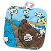 Noah Meets Moses  Potholder