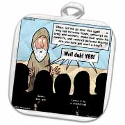 1st Samuel 8 1 22 What Could Go Wrong Bible kings people problems Potholder