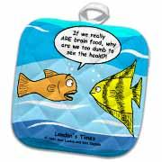 Are Fish Really Brain Food Potholder