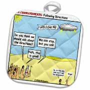 Ten Commandments, Following Directions Potholder