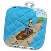 Fishing with God Potholder