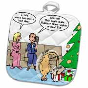 Bad Christmas Present Idea - Funniest Home Videos Potholder