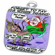 Ira Monroe - Santa and Mule Deer Potholder