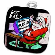 Ira Monroe about Santas E-Mail for Christmas Potholder