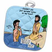 Mark 01-01-08 Take Me to the River - John the Baptist Potholder