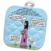 Mark 04-26-34 Jesus and the Beanstalk - Teaching Ad Lib Potholder