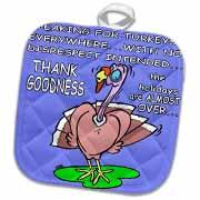 Ira Monroes Grateful Holiday Turkey Potholder