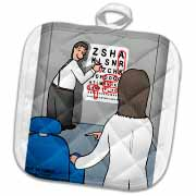 Eye Chart Word Search - Visit to the Eye Doctor Potholder