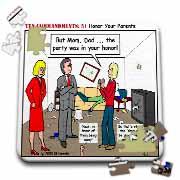 Ten Commandments 5 Honor Your Parents Puzzle