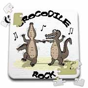 Out to Lunch Cartoon Crocodile Rock Puzzle