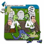 Halloween - Zombie Practical Jokes - Clinton and Nixon Masks Puzzle