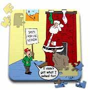 Dale Hunt - Santa Contributes to the Bad Economy Puzzle