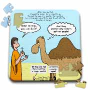 Mark 10-17-31 Stupid Animal Tricks - Camel through the Eye of a Needle Parable Puzzle