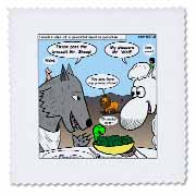 Isaiah 65 17 25 Cheese Tofu Bugers in Paradise Bible earth heaven paradise wolf sheep lamb lion Quilt Square