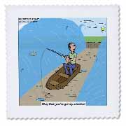 Fishing with God Quilt Square