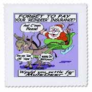 Ira Monroe - Santa and Mule Deer Quilt Square