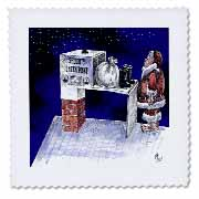 VAL - Santa Security Checkpoint Quilt Square