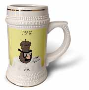 Funeral for a Cartoonist - Groucho Glasses on an Urn Stein Mug