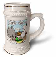 Isaiah 65 17 25 Cheese Tofu Bugers in Paradise Bible earth heaven paradise wolf sheep lamb lion Stein Mug
