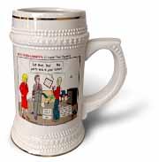 Ten Commandments 5 Honor Your Parents Stein Mug