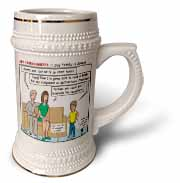Ten Commandments 7 Stay Faithful to Spouse Stein Mug