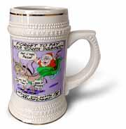 Ira Monroe - Santa and Mule Deer Stein Mug