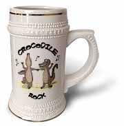 Out to Lunch Cartoon Crocodile Rock Stein Mug