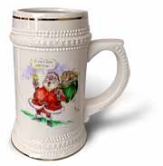 VAL Cartoon about Gift Card Giving for Christmas Stein Mug