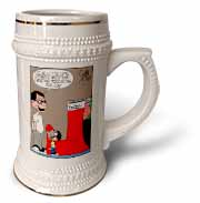 Sean Boley - Clever Child with very Large Christmas Stocking Stein Mug