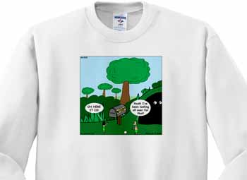Job 28 20 Looking for Wisdom in All the Wrong Places Bible wisdom golf course mailbox ball Sweatshirt