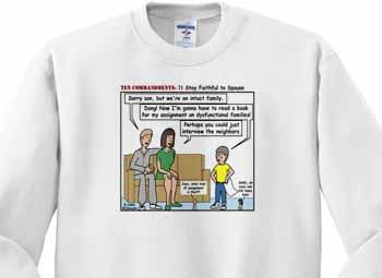 Ten Commandments 7 Stay Faithful to Spouse Sweatshirt