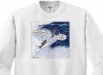 Salmon Spawning Advice Sweatshirt