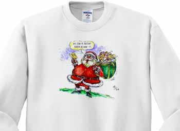 VAL Cartoon about Gift Card Giving for Christmas Sweatshirt