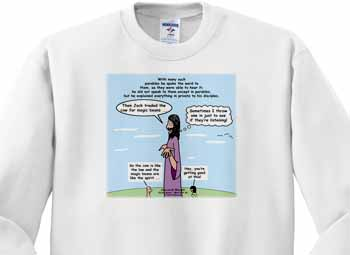 Mark 04-26-34 Jesus and the Beanstalk - Teaching Ad Lib Sweatshirt