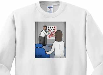 Eye Chart Word Search - Visit to the Eye Doctor Sweatshirt