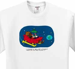 Nelson Dewey - Alien Craft Resembles Santas Sleigh T-Shirt