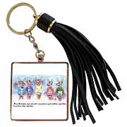 Kevin Edler Cartoon about Rudolphs Troubles for Christmas Tassel Key Chain