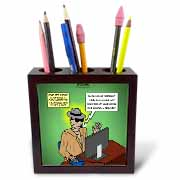 Invisible Man Internet Dating and Web Catfishing Tile Pen Holder