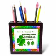 St Patricks Day Tile Pen Holder