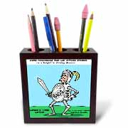 Knight In Shining Armour Meats Tile Pen Holder
