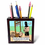 Gallows Humor  Tile Pen Holder