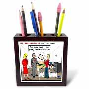 Ten Commandments 5 Honor Your Parents Tile Pen Holder
