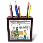 Ten Commandments 7 Stay Faithful to Spouse Tile Pen Holder